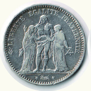 obverse: FRANCIA - 5 Fr. 1875 Parigi.