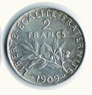 reverse: FRANCIA - 2 Fr. 1909 - KM 845.1.