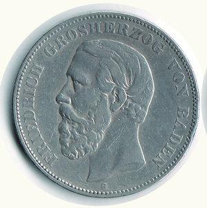 obverse: GERMANIA - Antichi Stati - Baden - 5 Fr. 1875.