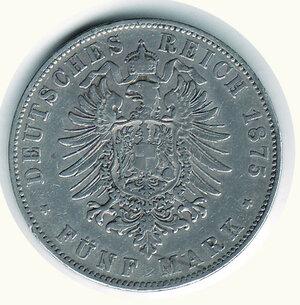 reverse: GERMANIA - Antichi Stati - Baden - 5 Fr. 1875.