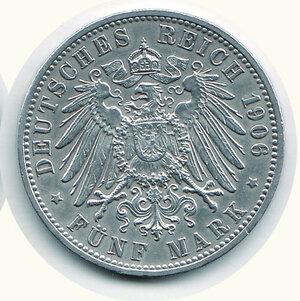 reverse: GERMANIA - Antichi Stati - Baden - 5 Marchi 1906