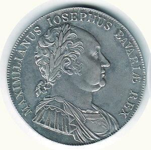 obverse: GERMANIA - Baviera - Massimiliano Giuseppe - Tallero