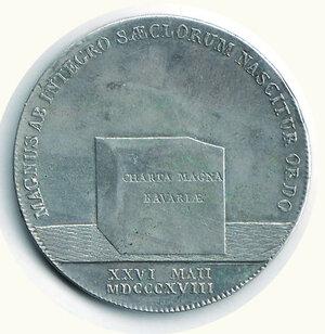 reverse: GERMANIA - Baviera - Massimiliano Giuseppe - Tallero