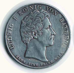 obverse: GERMANIA - Antichi Stati - Baviera. Ludwig I Tallero 1828.