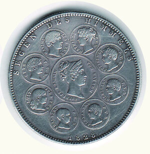 reverse: GERMANIA - Antichi Stati - Baviera. Ludwig I Tallero 1828.