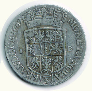 reverse: GERMANIA - Antichi Stati - Federico III Elettore - Brandemburgo - 2/2 di Tallero 1689.  Richiesta 100