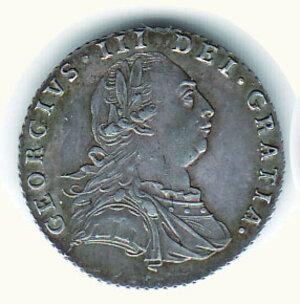 obverse: GRAN BRETAGNA - Giorgio III (1760-1820) - 6 Pence a 787