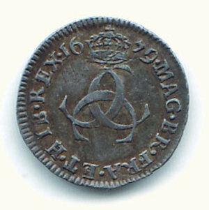reverse: GRAN BRETAGNA - Carlo II (1660-1685) - 3 Pence 1679