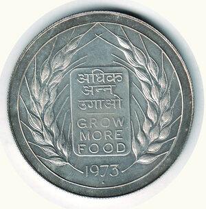 reverse: INDIA - 1973 Rupia - gr 30.