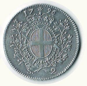 reverse: MALTA - Emmanuel de Rohan - 2 Scudi 1796.