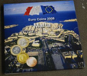 obverse: MALTA Serie annuale in euro anno 2008
