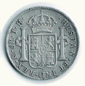 reverse: MESSICO - Carlo IV - 8 Reales 1806 - Sigla TH.