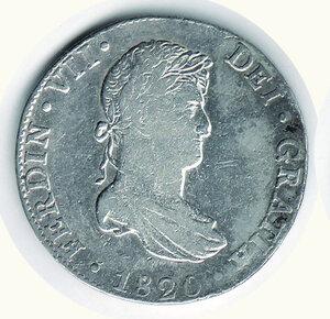obverse: MESSICO - Ferdinando VII - 8 Reales 1820.