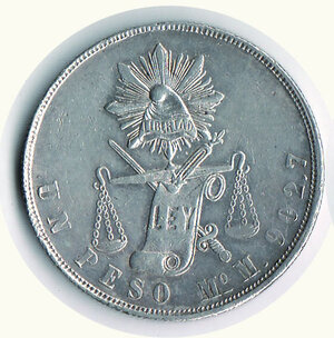 obverse: MESSICO - Repubblica Messicana - Peso 1871.