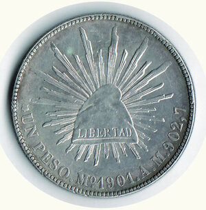 reverse: MESSICO - Repubblica Messicana - Peso 1901
