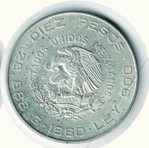 reverse: MESSICO - Dieci Pesos 1960