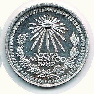 reverse: MESSICO - Oncia 1987.