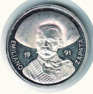 obverse: MESSICO - Emiliano Zapata - 1991 Oncia.