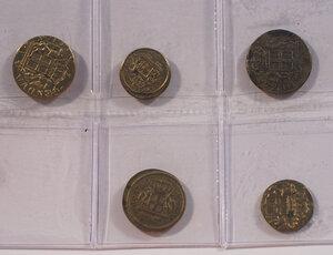 obverse: GENOVA Lotto di 5 pesi monetali da 12 e 24 Lire