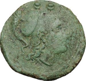 obverse: Etruria, Populonia. AE Sextans, 3rd century BC