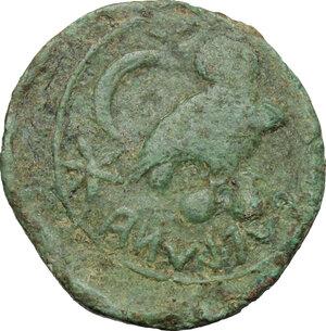 reverse: Etruria, Populonia. AE Sextans, 3rd century BC
