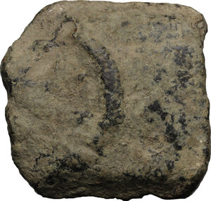 obverse: Etruria, Tarquinii. Aes Signatum. AE Halved (=As) of currency bar of about 500-550 g. (=Dupondius), c. 275 BC