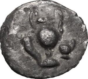 obverse: Northern Apulia, Canusium. AR Obol, c. 300-250 BC