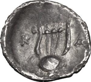 reverse: Northern Apulia, Canusium. AR Obol, c. 300-250 BC