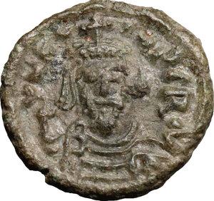obverse: Phocas (602-610).. AE Half Follis, Ravenna mint, 608-609 AD