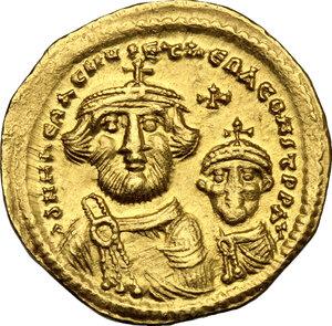 obverse: Heraclius (610-641).. AV (light?) Solidus, Constantinople mint