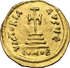 reverse: Heraclius (610-641).. AV (light?) Solidus, Constantinople mint
