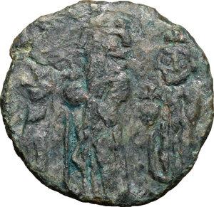 obverse: Heraclius (610-641).. AE Follis, Ravenna mint