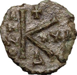 reverse: Heraclius (610-641).. AE Half Follis, Ravenna mint