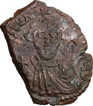 obverse: Constans II (641-668).. AE Follis, Ravenna mint