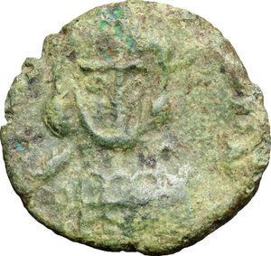 obverse: Constantine IV, Pogonatus (668-685).. AE Follis, Ravenna mint