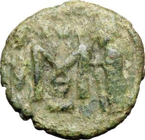 reverse: Constantine IV, Pogonatus (668-685).. AE Follis, Ravenna mint