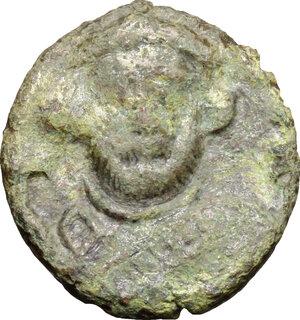 obverse: Leontius (695-698).. AE Follis, Ravenna mint