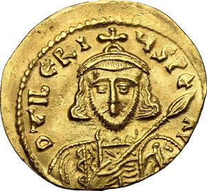 obverse: Tiberius III, Apsimar (698-705).. AV Solidus, Constantinople mint