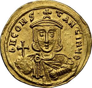 reverse: Leo III, the Isaurian (717-741).. AV Solidus, Constantinople mint