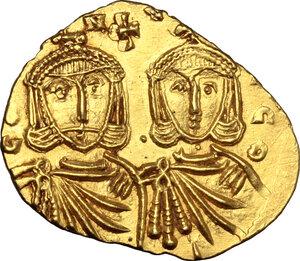 obverse: Constantine V, Copronymus (741-775).. AV Solidus, Syracuse mint