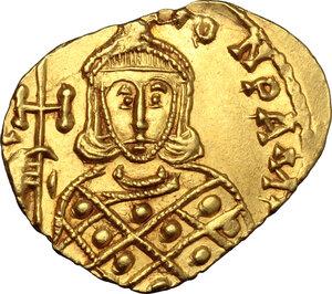 reverse: Constantine V, Copronymus (741-775).. AV Solidus, Syracuse mint