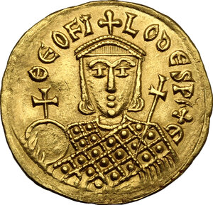 reverse: Michael II, the Amorian (820-829).. AV Solidus, Constantinople mint
