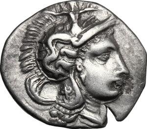 obverse: Southern Apulia, Tarentum. AR Diobol, c. 325-280