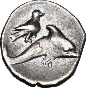 reverse: Southern Apulia, Tarentum. AR Litra, 325-280 BC