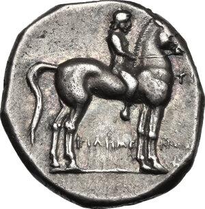 obverse: Southern Apulia, Tarentum. AR Nomos, 273-240 BC