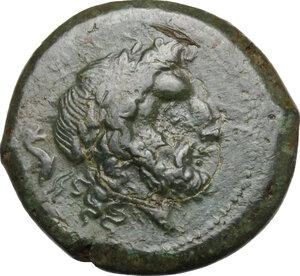 obverse: Northern Lucania, Paestum. AE Unit, First Punic War, 264-241 BC