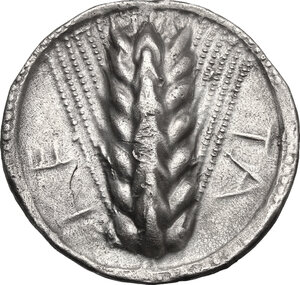 obverse: Southern Lucania, Metapontum. AR Stater, c. 540-510 BC