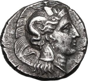 obverse: Southern Lucania, Thurium. AR Distater, c. 350-300 BC