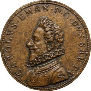 obverse: Carlo Emanuele I (1580-1630).. Medaglia 1596