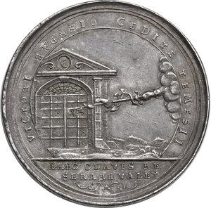 obverse: Eugenio di Savoia (1663-1736). Medaglia 1716 per la presa di Timisoara durante la guerra contro la Turchia